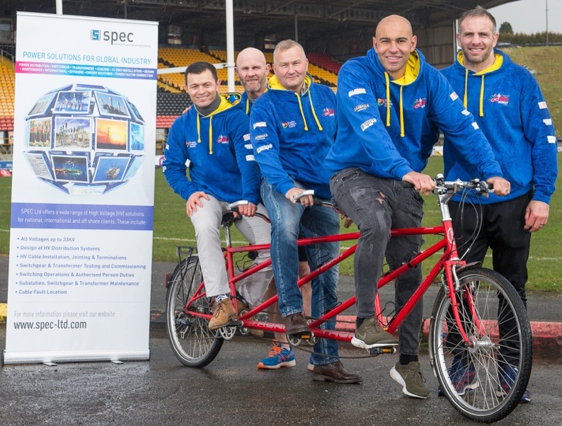 Spec sign up as partners of the 2018 UK Red Ride to Wembley