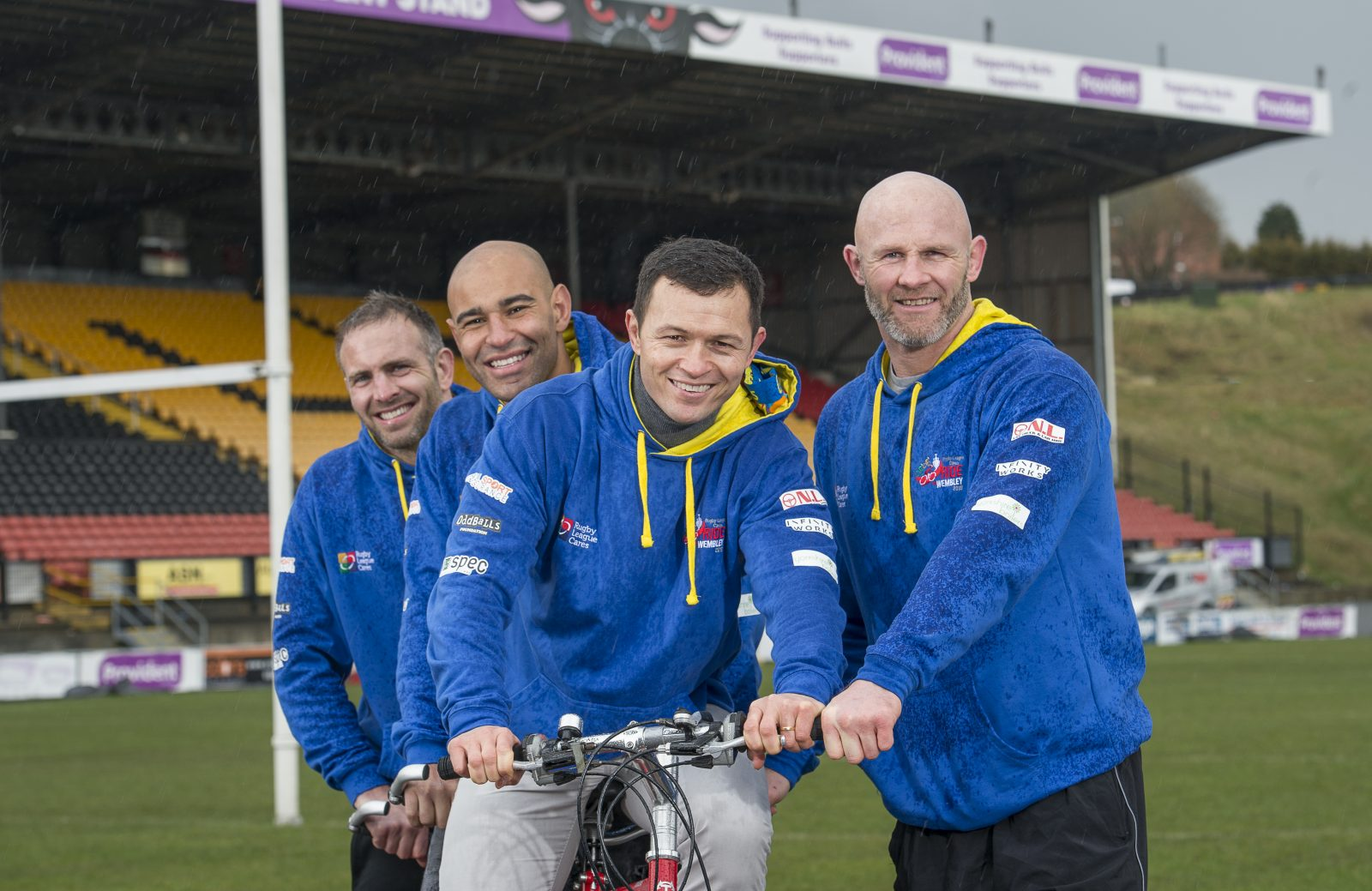 Robbie ready for his biggest challenge on the UK Red Ride to Wembley