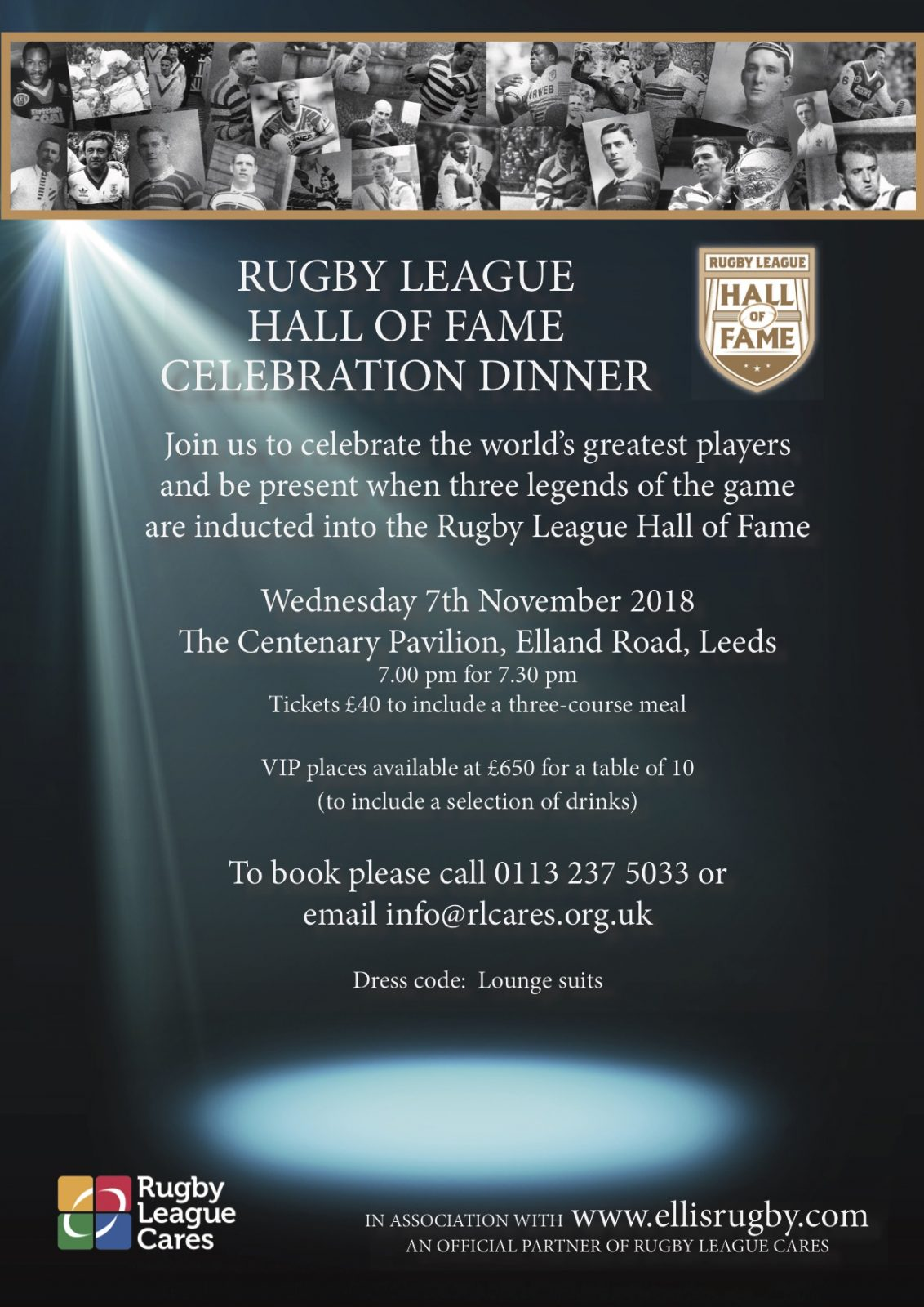 Tickets now on sale for historic Rugby League Hall of Fame dinner