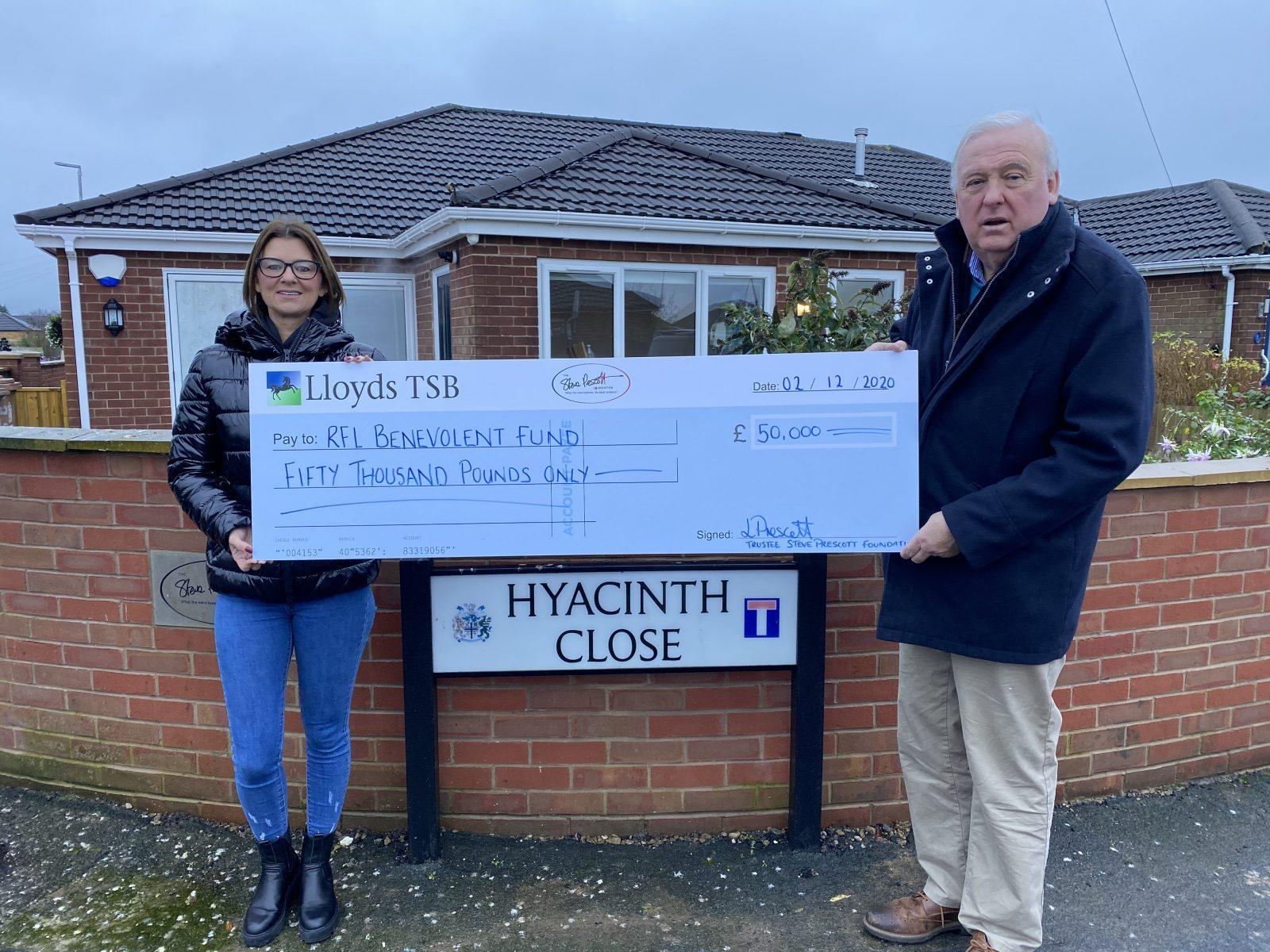 RL Benevolent Fund receives £50,000 from Steve Prescott Foundation